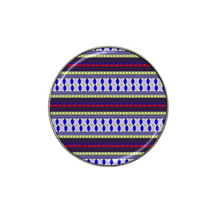Colorful Retro Geometric Pattern Hat Clip Ball Marker (4 pack)