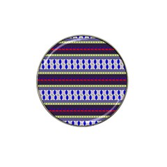 Colorful Retro Geometric Pattern Hat Clip Ball Marker (10 Pack)