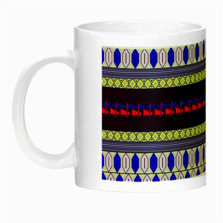 Colorful Retro Geometric Pattern Night Luminous Mugs
