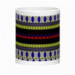 Colorful Retro Geometric Pattern Night Luminous Mugs Center