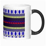 Colorful Retro Geometric Pattern Morph Mugs Right