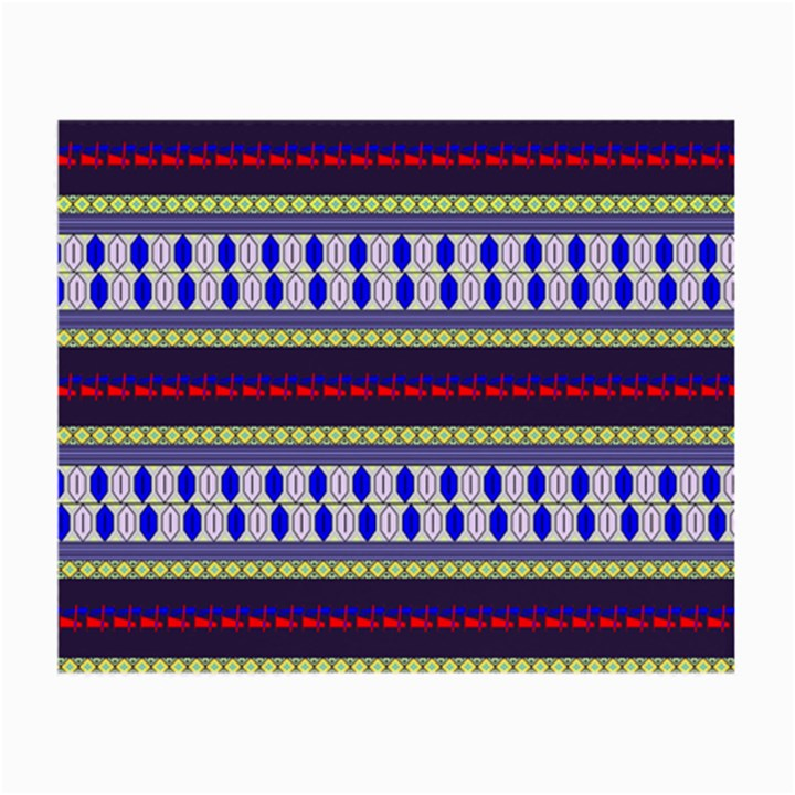 Colorful Retro Geometric Pattern Small Glasses Cloth