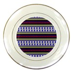 Colorful Retro Geometric Pattern Porcelain Plates Front
