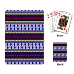 Colorful Retro Geometric Pattern Playing Card Back