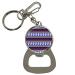 Colorful Retro Geometric Pattern Bottle Opener Key Chains Front