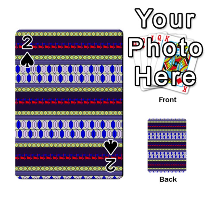 Colorful Retro Geometric Pattern Playing Cards 54 Designs