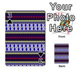 Colorful Retro Geometric Pattern Playing Cards 54 Designs  Front - Spade3