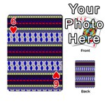 Colorful Retro Geometric Pattern Playing Cards 54 Designs  Front - Heart6