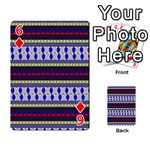 Colorful Retro Geometric Pattern Playing Cards 54 Designs  Front - Diamond6