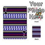 Colorful Retro Geometric Pattern Playing Cards 54 Designs  Front - Spade7