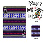 Colorful Retro Geometric Pattern Playing Cards 54 Designs  Front - ClubA