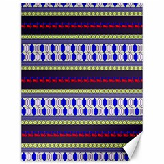 Colorful Retro Geometric Pattern Canvas 12  x 16