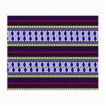 Colorful Retro Geometric Pattern Small Glasses Cloth (2-Side) Back