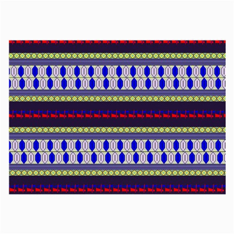 Colorful Retro Geometric Pattern Large Glasses Cloth (2-Side)