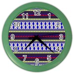 Colorful Retro Geometric Pattern Color Wall Clocks Front