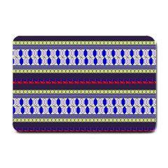 Colorful Retro Geometric Pattern Small Doormat