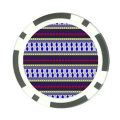 Colorful Retro Geometric Pattern Poker Chip Card Guards