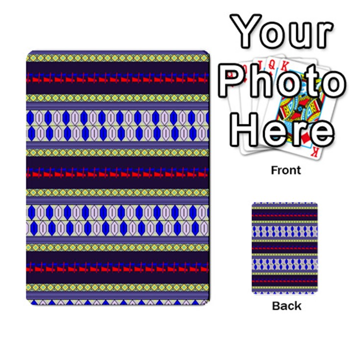 Colorful Retro Geometric Pattern Multi-purpose Cards (Rectangle)