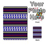 Colorful Retro Geometric Pattern Multi-purpose Cards (Rectangle)  Back 9