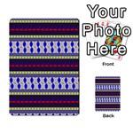 Colorful Retro Geometric Pattern Multi-purpose Cards (Rectangle)  Front 12