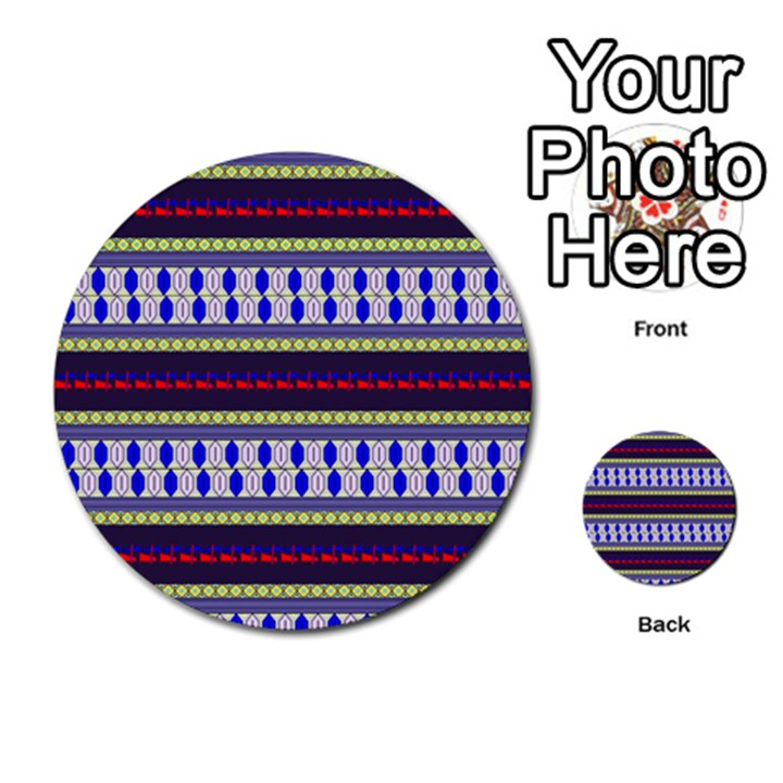 Colorful Retro Geometric Pattern Multi-purpose Cards (Round)