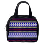 Colorful Retro Geometric Pattern Classic Handbags (One Side) Front