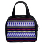 Colorful Retro Geometric Pattern Classic Handbags (2 Sides) Front