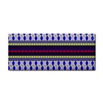 Colorful Retro Geometric Pattern Hand Towel Front