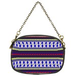 Colorful Retro Geometric Pattern Chain Purses (One Side)  Front