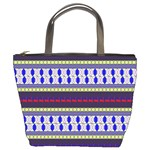 Colorful Retro Geometric Pattern Bucket Bags Front