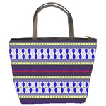 Colorful Retro Geometric Pattern Bucket Bags Back