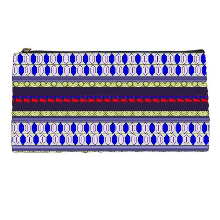 Colorful Retro Geometric Pattern Pencil Cases