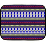 Colorful Retro Geometric Pattern Double Sided Fleece Blanket (Mini)  35 x27 Blanket Back