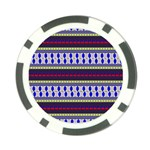 Colorful Retro Geometric Pattern Poker Chip Card Guards (10 pack)  Front