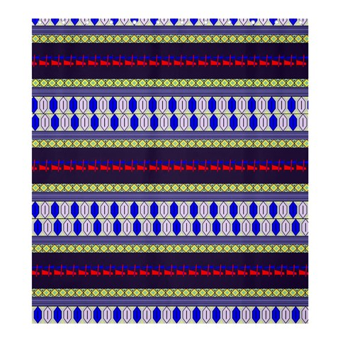 Colorful Retro Geometric Pattern Shower Curtain 66  x 72  (Large)