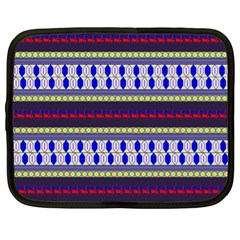 Colorful Retro Geometric Pattern Netbook Case (XL)