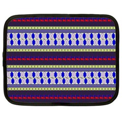 Colorful Retro Geometric Pattern Netbook Case (xxl)
