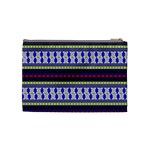 Colorful Retro Geometric Pattern Cosmetic Bag (Medium)  Back