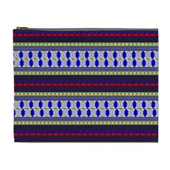 Colorful Retro Geometric Pattern Cosmetic Bag (xl)