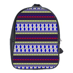Colorful Retro Geometric Pattern School Bags(large)