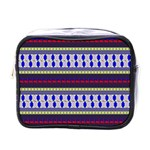 Colorful Retro Geometric Pattern Mini Toiletries Bags Front
