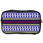 Colorful Retro Geometric Pattern Toiletries Bags Front