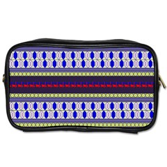 Colorful Retro Geometric Pattern Toiletries Bags 2 Side