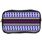 Colorful Retro Geometric Pattern Toiletries Bags 2-Side Back