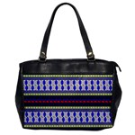 Colorful Retro Geometric Pattern Office Handbags Front