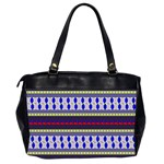 Colorful Retro Geometric Pattern Office Handbags (2 Sides)  Back