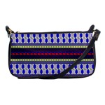 Colorful Retro Geometric Pattern Shoulder Clutch Bags Front