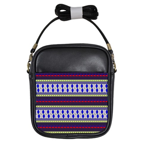 Colorful Retro Geometric Pattern Girls Sling Bags