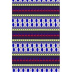 Colorful Retro Geometric Pattern 5.5  x 8.5  Notebooks Back Cover Inside