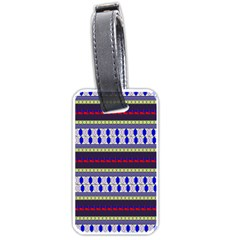 Colorful Retro Geometric Pattern Luggage Tags (One Side)